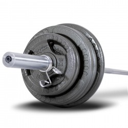 175KG CAST IRON OLYMPIC BARBELL KIT