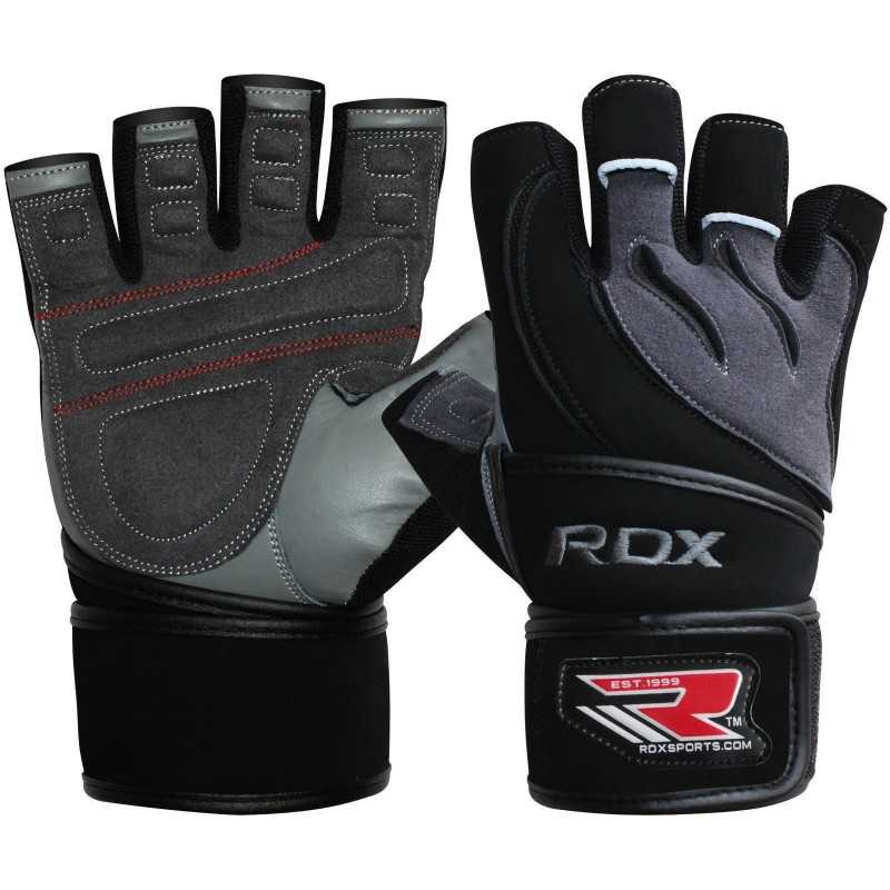 Weight Lifting Gloves Leather Fitness Gym Training Workout