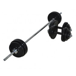 65KG Rubber Barbell/Dumbbell Combo Set