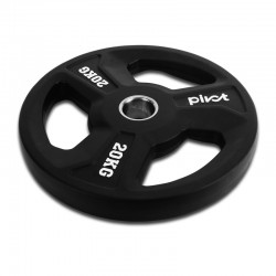 RUBBER OLYMPIC TRI-GRIP PLATES (2 INCH)