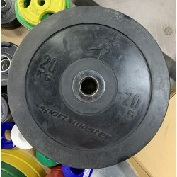 10KG BLACK BUMPER PLATES (IN PAIRS)