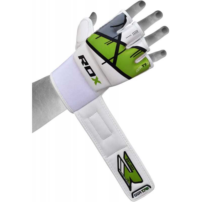 Leather X Mma Grappling Training Gloves Green